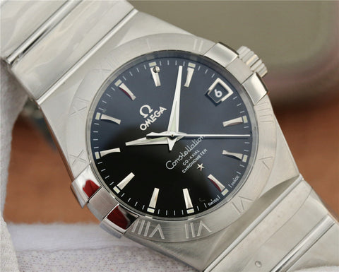 Omega Constellation Co-Axial 38mm Black Dial 8500 Movement