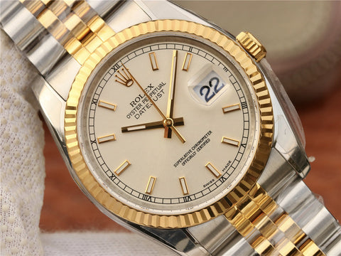 Rolex 36mm Datejust Two Tone Yellow Gold