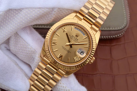 Replica-Rolex-Day-Date-Wrapped-Gold-Watch-
