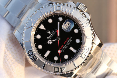 Replica-Rolex-YachtMaster-Black-Dial