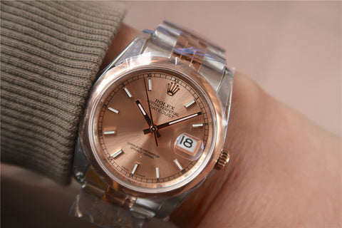 Rolex Datejust 116234 36mm Two Tone Rose Gold
