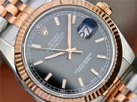 Rolex Datejust 36mm Two Tone Rose Gold