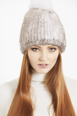 Church Street Beanie Hat in Marble Mink