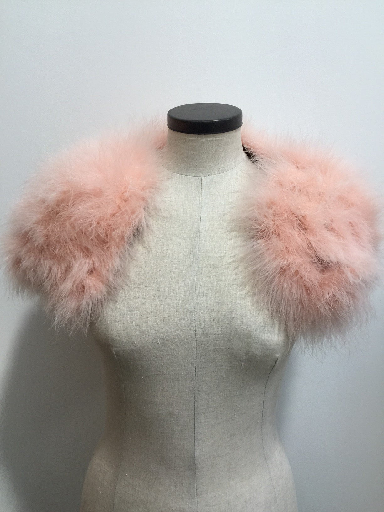 x Feather Shrug in Powder Pink - The Soho Furrier