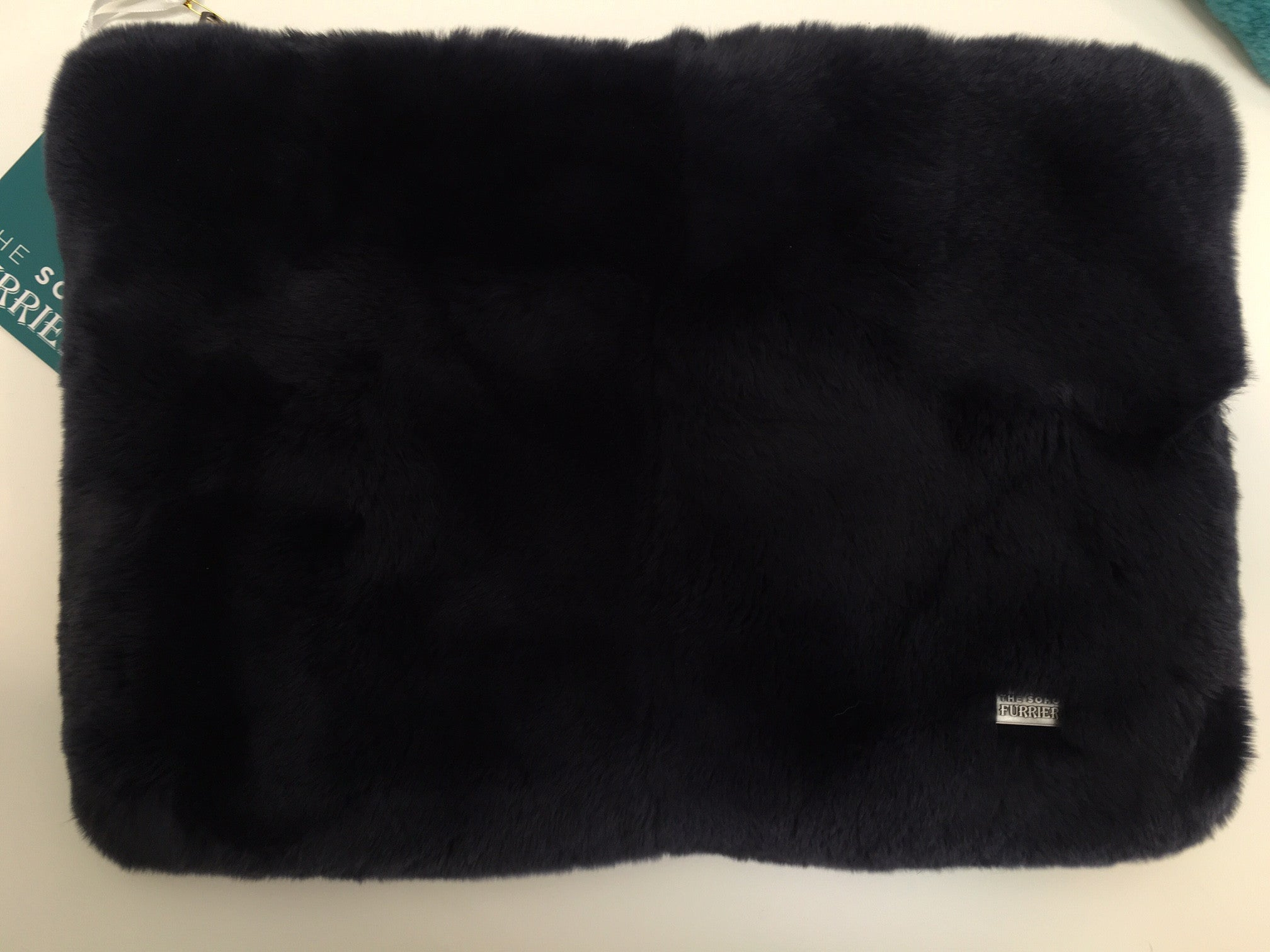 x Oversized Rex Clutch Bag / Laptop Case in Ink - The Soho Furrier