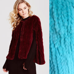Argyll Luxe Cape - Teal Limited Edition - The Soho Furrier  - 1