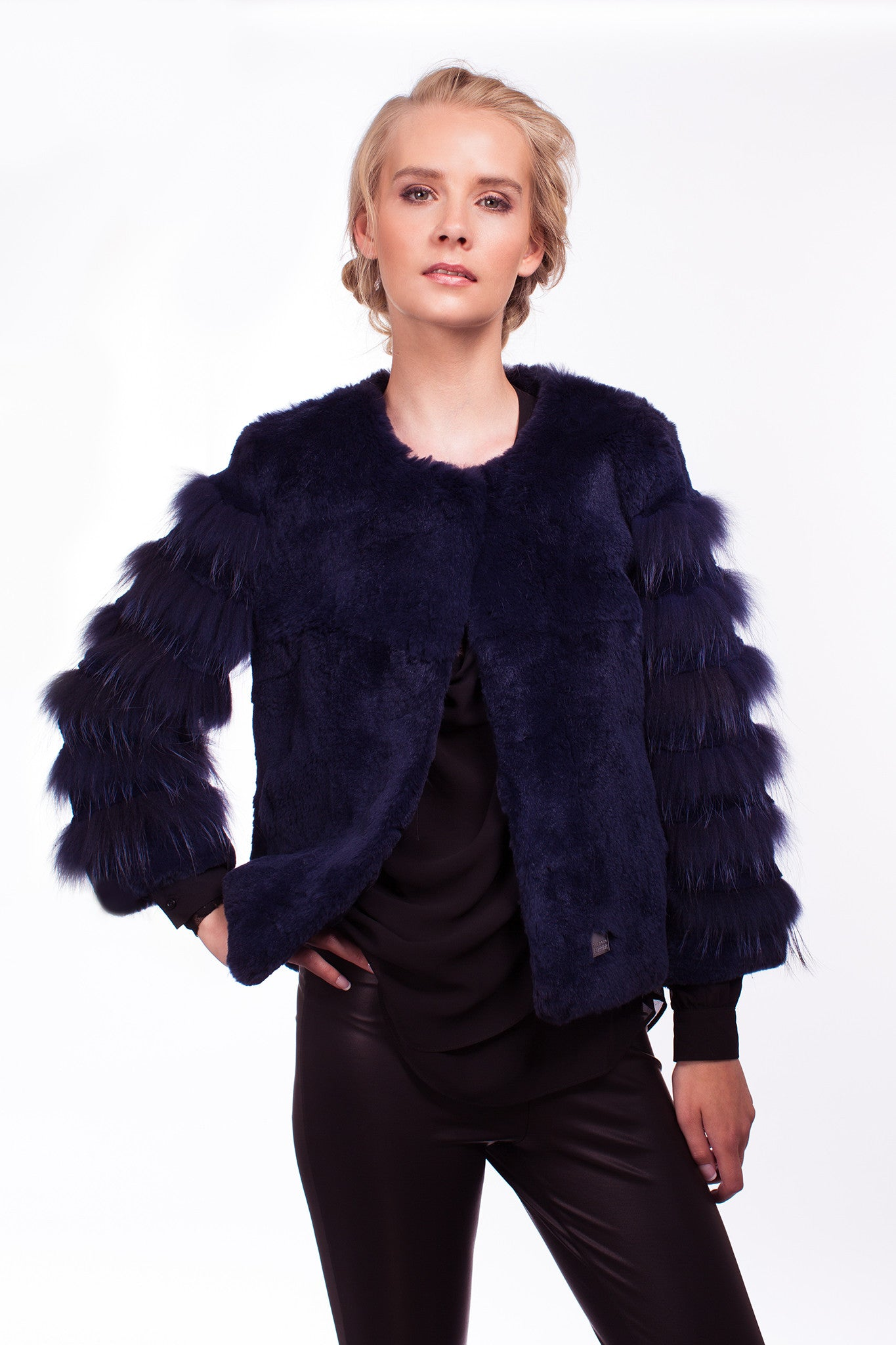 x Romilly Jacket in Ink - The Soho Furrier  - 1