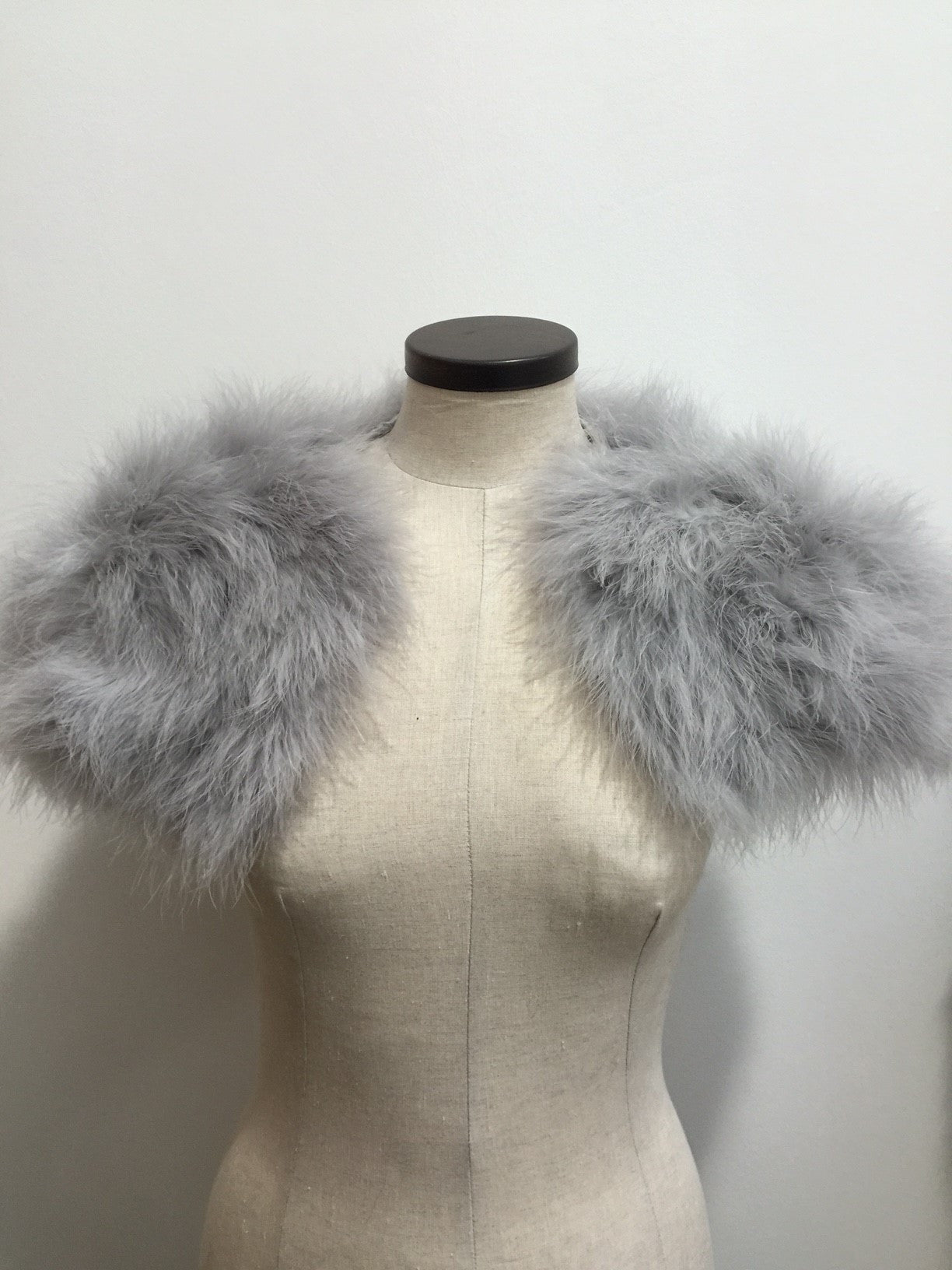 xFeather Shrug in Silver - The Soho Furrier