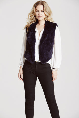 Argyll Biker Luxe Gilet - The Soho Furrier  - 1