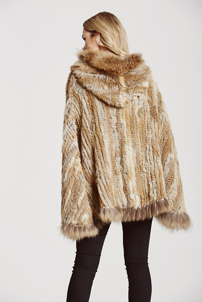 D'Arblay Hooded Poncho - AW16 Sale - The Soho Furrier  - 3