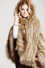 D'Arblay Hooded Poncho - AW16 Sale - The Soho Furrier  - 1