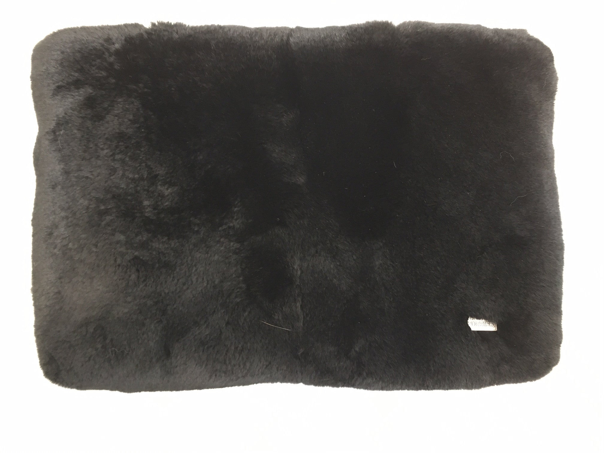 x Oversized Rex Clutch Bag / Laptop Case in Noir - The Soho Furrier