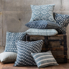 Pyramids Indigo Pillow