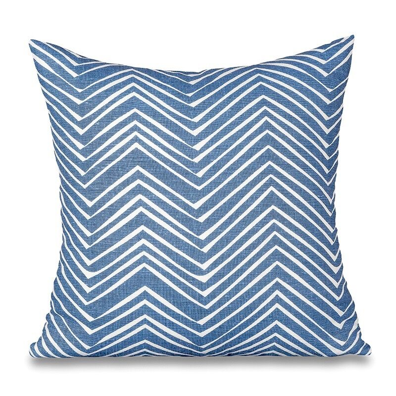 Sugar Feather Zig Zag - French Blue Reverse