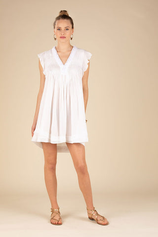 Poupette St. Barth Sasha Mini Dress - White