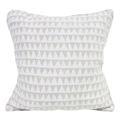 Pyramids Chalk Linen Pillow