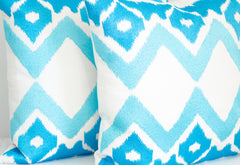 Ankasa Outdoor Aqua Ikat Pillow