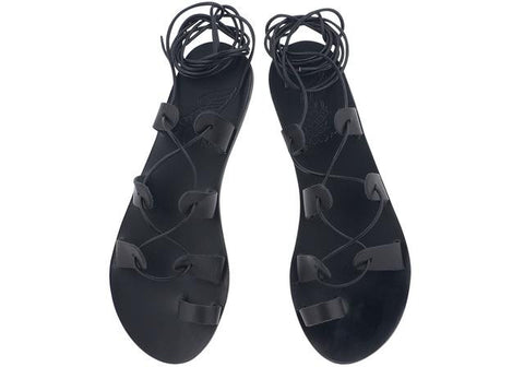 Ancient Greek Sandals Black Alcyone