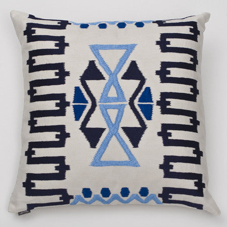 Ankasa Outdoor Geometric Ikat Pillow