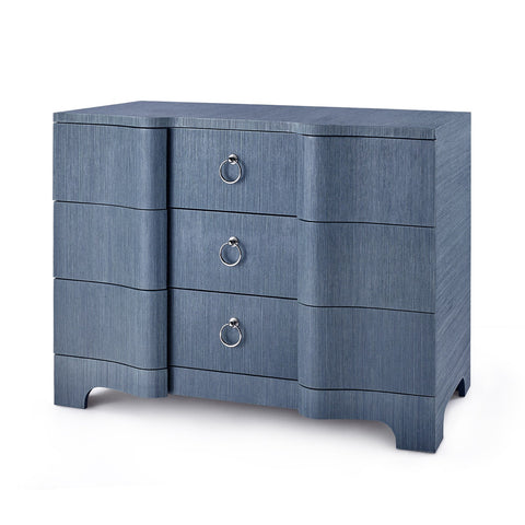 Brittany Large 3-Drawer Dresser - Navy