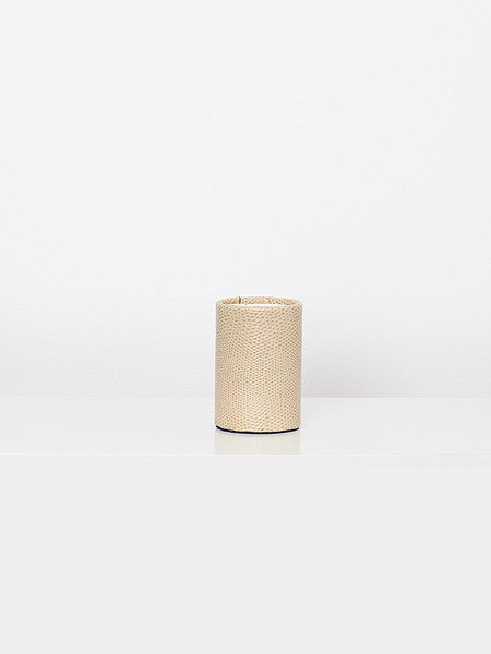 Beige Leather Cup