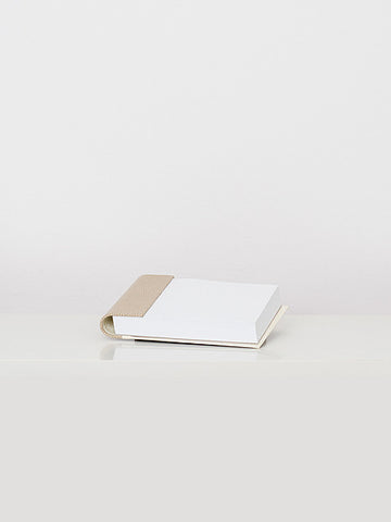 Beige Leather Notepad