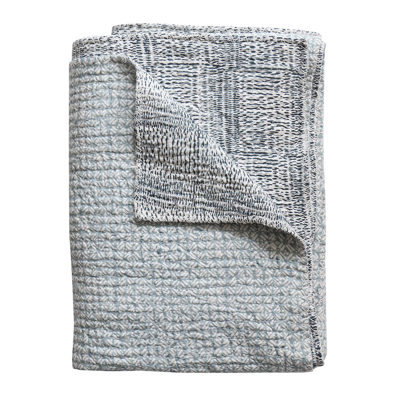 Kantha Dusk Reversable Cotton Throw