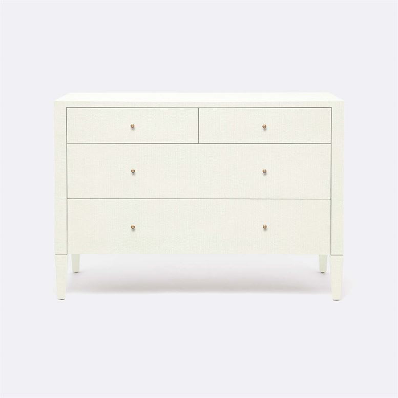 "Conrad White ""Raffia"" Dresser - Medium"