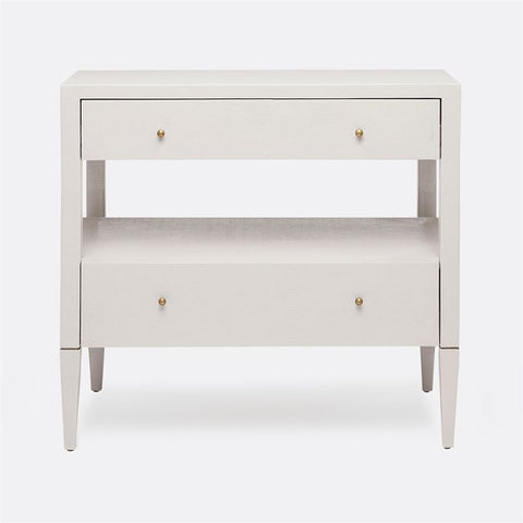 "Conrad ""Raffia"" Double Nightstand - White"