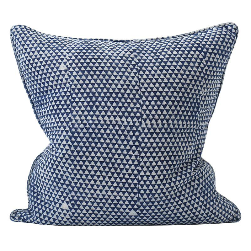 Huts Indigo Cotton Pillow