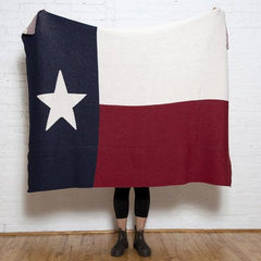 Texas Flag Cotton Throw
