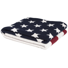 American Flag Cotton Throw