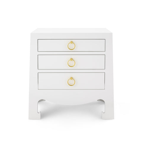 Jamie 3-Drawer Chest - White
