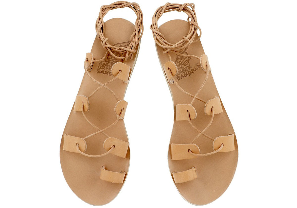 Ancient Greek Sandals Natural Alcyone