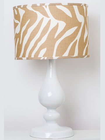 Natural Zebra Lampshade