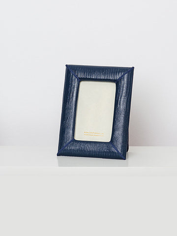 Navy Leather Frame