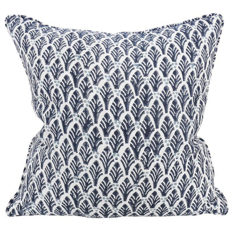 Colaba Midnight Linen Pillow