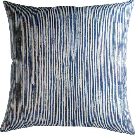 Vertex Blue Outdoor Pillow