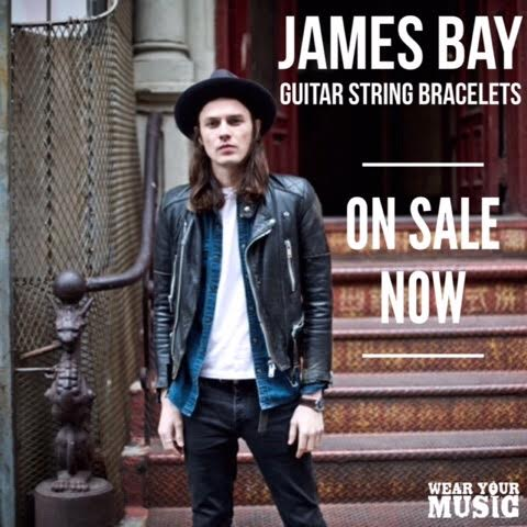 James Bay guitar string bracelets