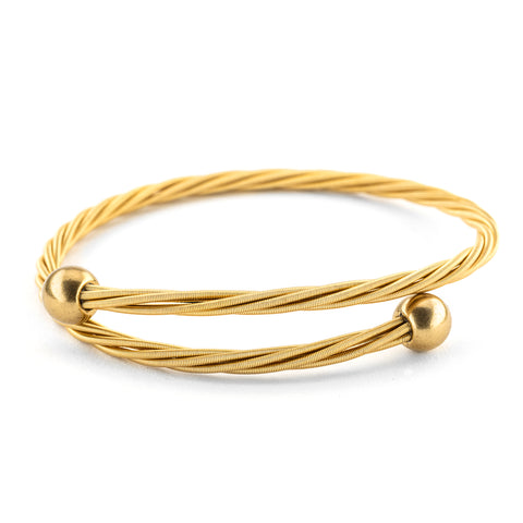 Golden Baller Guitar String Bracelet