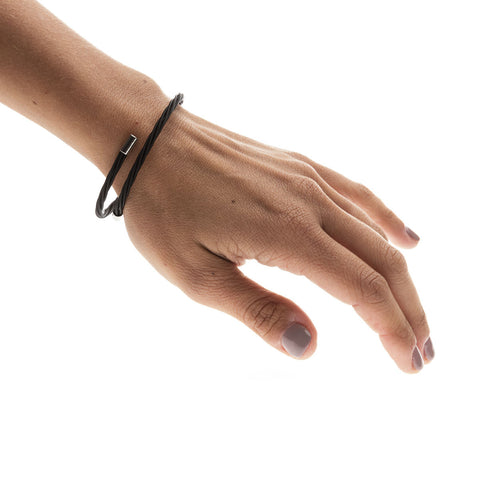 Backstage Black Guitar String Bracelet