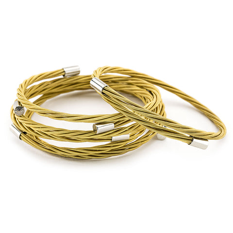 Guitar God Gold Guitar String Bracelet