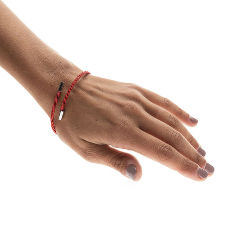 Rock Star Red Guitar String Bracelet
