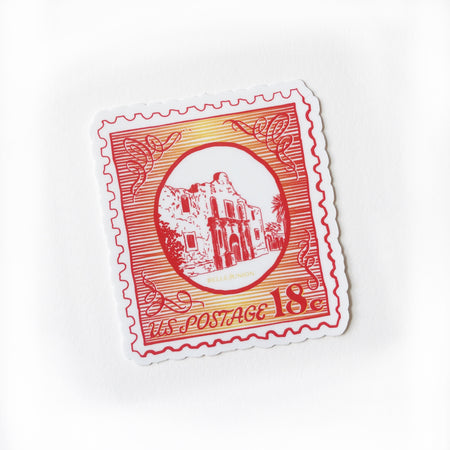 Alamo Postage Stamp sticker