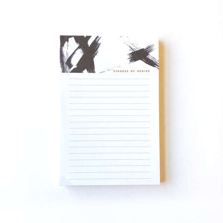 Strokes of Genius notepad