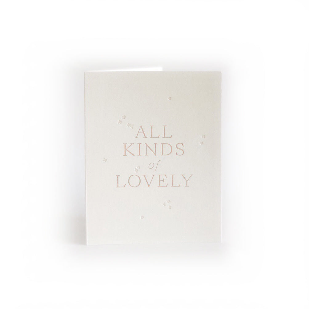 All Kinds of Lovely greeting card