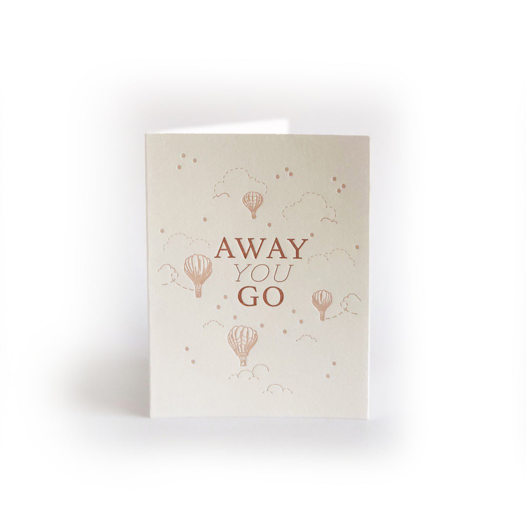 Away You Go greeting card