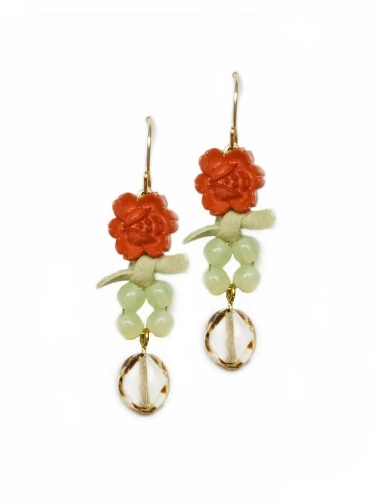Sunset Rose Earrings
