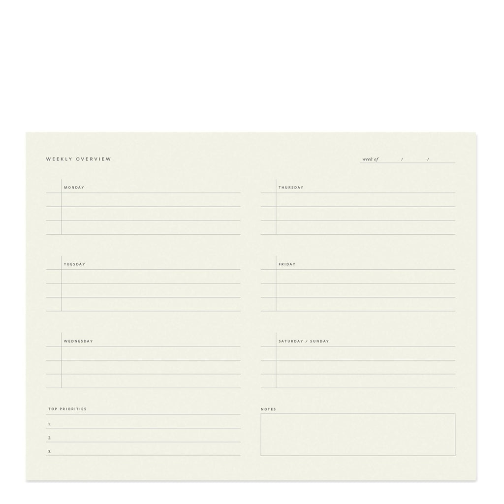 Weekly Overview Notepad
