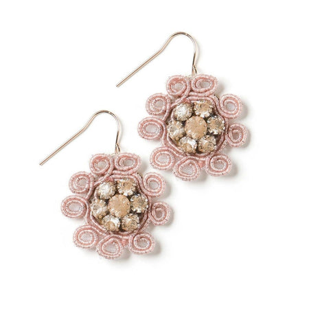 Coral Night Earrings